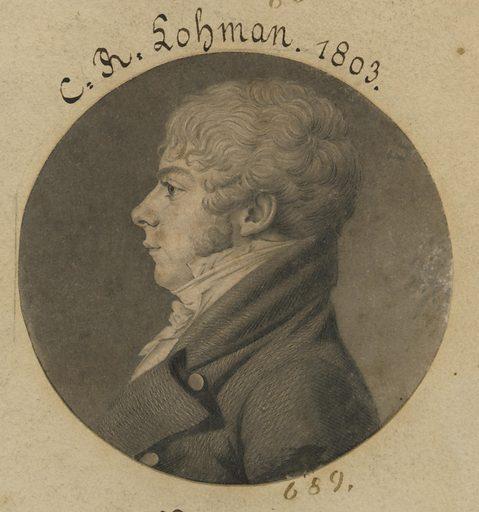 C. R. Lohman. Sitter: C. R. Lohman. Date: 1800s. Record ID: npg_S_NPG.74.39.15.24.