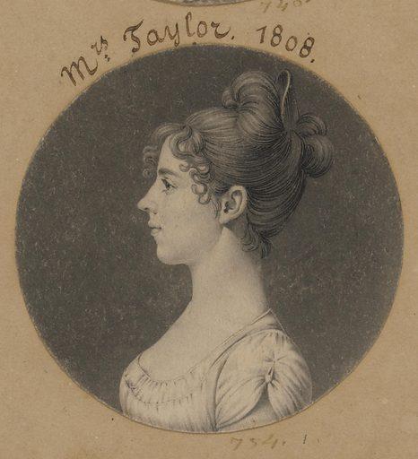 Lucy Harrison Singleton Taylor. Sitter: Lucy Harrison Singleton Taylor, 1789 – 1855. Date: 1800s. Record ID: npg_S_NPG.74.39.16.41.