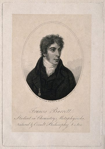 Francis Barrett. Stipple engraving by D Orme after himself. Francis Barrett, fl (18th century). Contributors: Daniel Orme (1766–1837). Work ID: gur26b3f.