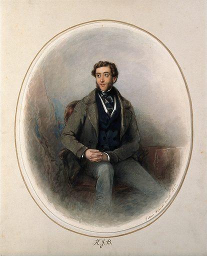 Henry Joseph Bradfield. Watercolour painting by E D Smith, 1845. H J S Bradfield (1805–1852). Contributors: E D Smith (active 1845). Work ID: k3x6fjcm.