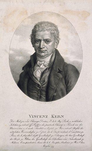 Vincenz Sebastian, Ritter von Kern. Lithograph by K Lanzedelly after C Leybold. PORTRAIT PRINTS. LITHOGRAPHS. Work ID: kx6b7aar.
