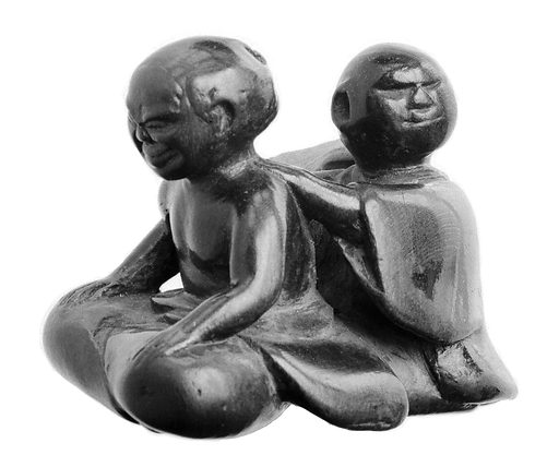 Lacquered wood, masseurs operating on shoulders and back
