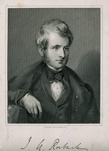 John Arthur Roebuck. Stipple engraving by H Robinson after GF Watts. The Rt. Hon. JA Roebuck, MP for Bath and Sheffield, founder of the Roebuck Committee and chairman of the Sebastopol Committee for inquiry into the Crimean War. Created 1840. John Arthur Roebuck (1802–1879). Contributors: George Frederick Watts (1817–1904); John Henry Robinson (1796–1871). Work ID: uaxumwfj.