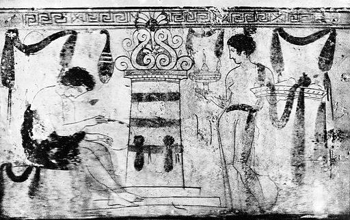 Illustration of designs on Greek vases. Illustration of designs on Greek vases: 85. Work ID: j7eb4ptp.