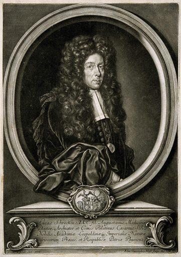Lucas von Schröck. Mezzotint by E C Heiss, 1698, after I Fisches, junior. PORTRAIT PRINTS. MEZZOTINTS. Contributors: J Fisches. Work ID: asyjfuh6.