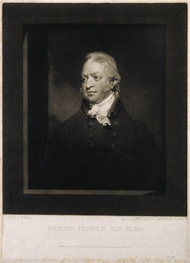 Richard Temple. Mezzotint by J Young, 1802, after W Owen. Created 1802. Richard Temple (1759–1826). Contributors: William Owen (1769–1825); John Young (1755–1825). Work ID: pdtenvsa.
