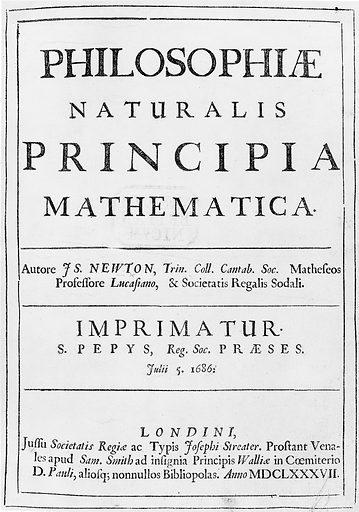 Sir Isaac Newton, Philosophiae naturalis…