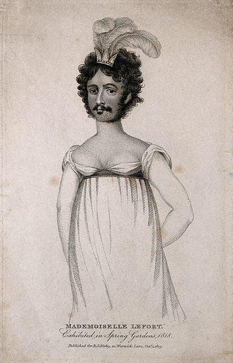 Madamoiselle Lefort, a bearded lady
