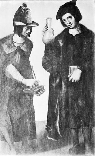 Painting of Saints Cosmas and Damian. In possession of Senor Lazaro, Madrid. Work ID: g4n5pdzk.