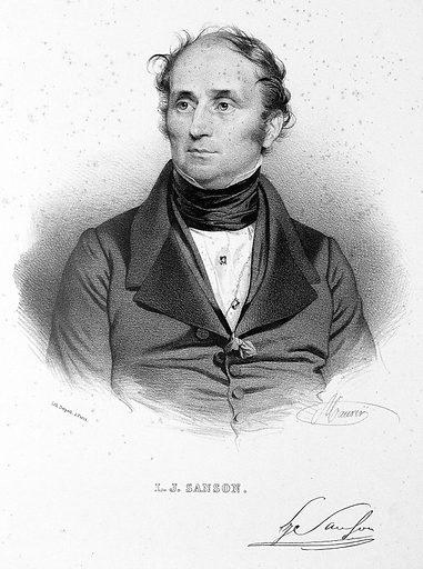 Portrait of Louis Joseph Sanson by Maurin. Work ID: gv7xdp3s.