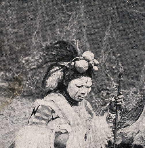 A Zulu medicine man or shaman