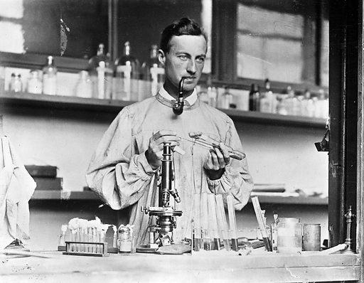 Herbert Edward Durham. From photograph taken in the laboratory, dept of Pathology, Cambridge. Work ID: rtfrwjqw.