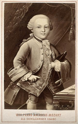 Wolfgang Amadeus Mozart at the age of six years