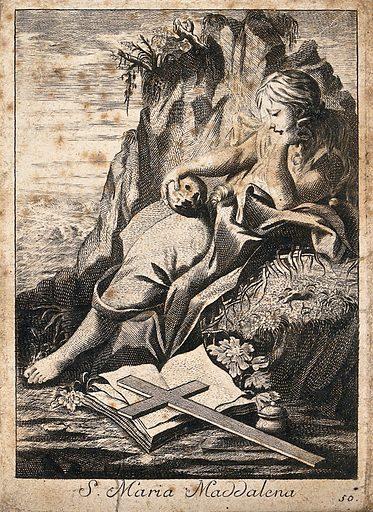 Saint Mary Magdalen. Engraving. Mary Magdalene, Saint. Work ID: xkvsxwgc.