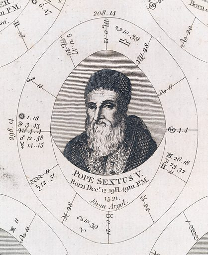 Astrological birth chart for Pope Sextus V Work ID: wh94vtgs.