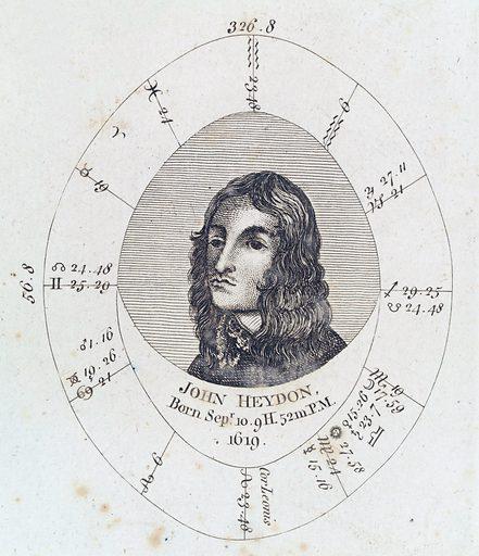 Astrological birth chart for John Heydon. Work ID: y4jaw3bh.