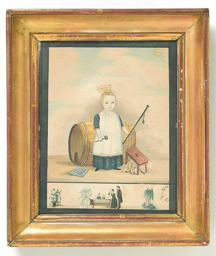 A dead child. Watercolour.( Framed). A watercolour in memory of a dead child. Work ID: rxv8uqmc.