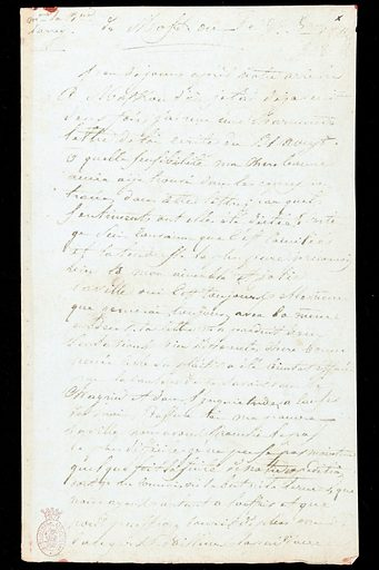 Letter from Baron Dominique Jean Larrey to his wife. Letter from Baron Dominique Jean Larrey, surgeon to Napoleon's army, to his wife, describing the Battle of Borodino, written from occupied Moscow. Work ID: w4mxpa5h.