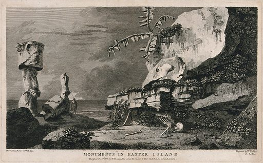 Monuments on Easter Island (Rapa Nui), encountered by Captain Cook on his second voyage, 1772–1775