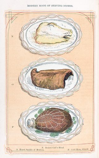 The book of household management by Mrs Beeton. The book of household management. A selection of meat dishes. Domestic. Cookery. Work ID: jn2wv897.