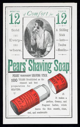 Pears' Shaving Soap advert