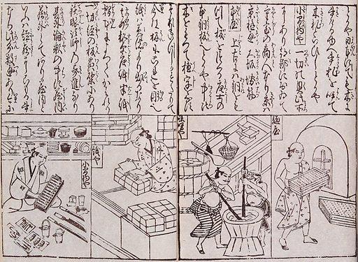 Occupations of people of Japan. Woodcuts, ca 1670. Work ID: s922nnvu.