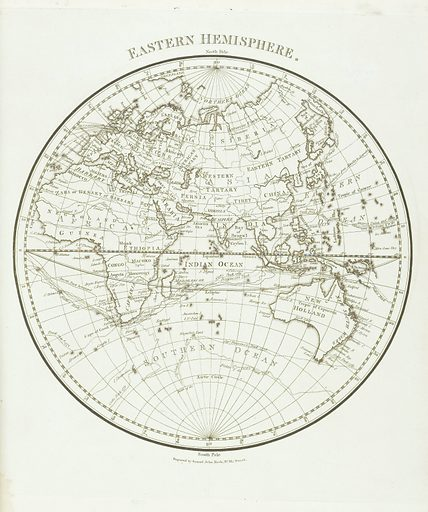 A journal of a voyage to the South Seas. Map of the Eastern Hemisphere. Work ID: sfpqx43k.