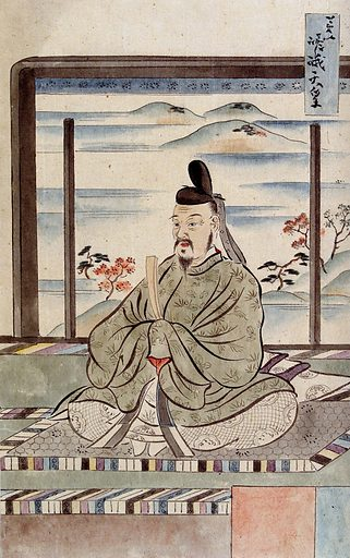 A Japanese man seated. Watercolour, 18 –. Created between 1800 and 1899. Japan. Work ID: msw8pyfz.