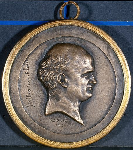 Étienne Geoffroy-Saint-Hilaire; in profile. Plaque by David, 1831. Created 1831. Geoffroy Saint-Hilaire, Etienne (1772–1844). Contributors: David. Work ID: u7nxx9my.