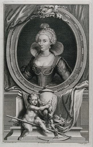 Anne of Denmark, Queen of King James I Queen consort of Scotland, England and Ireland. Contributors: G Johnson. Work ID: caa99ykd.