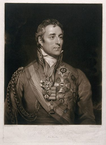 Arthur Wellesley, first Duke of Wellington. Mezzotint by W Say, 1814, after T Phillips. Created Nov. 8 1814. Arthur Wellesley, Duke of Wellington (1769–1852). Contributors: Thomas Phillips (1770–1845); William Say (1768–1834). Work ID: wkavzcwe.