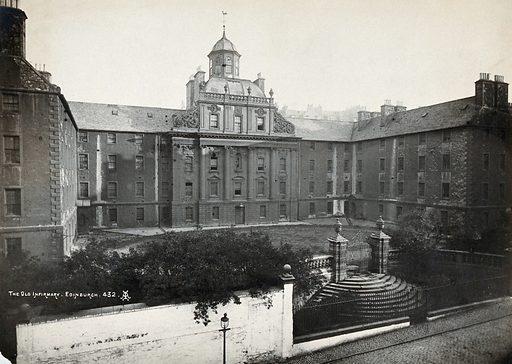 The Royal Infirmary, Edinburgh, Scotland: exterior. Photograph by Francis Caird Inglis, ca 1920. Created 1920. Contributors: Francis Caird Inglis (approximately 1880–1940). Work ID: vn57mubw.