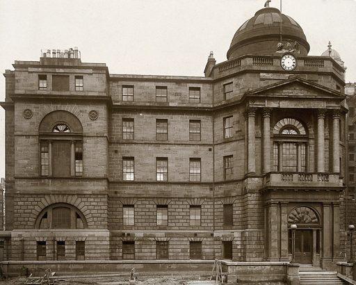 Glasgow Royal Infirmary, Scotland: exterior. Photograph, ca 1910. Created 1910. Work ID: mh7kqear.