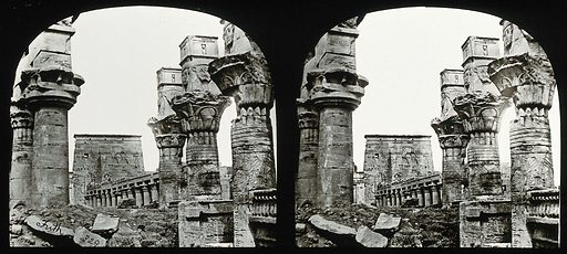 The Osiride Pillars, Philae Island, Egypt; stereoscopic views. Photograph by Francis Frith, 1856/1859. Created 1856–1859. Contributors: Francis. Frith. Work ID: qw2gejvf.