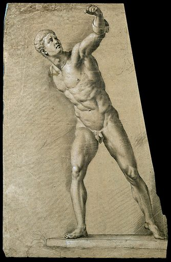The Borghese Gladiator. Pencil drawing by R Earlom. Contributors: Richard Earlom. Work ID: ddn97ne8.