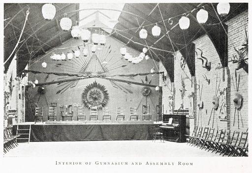 Interior of gymnasium and assembly room. Interior of gymnasium and assembly hall, Wellcome Club and Insitiute, Dartford. Work ID: fnzcmzr4.