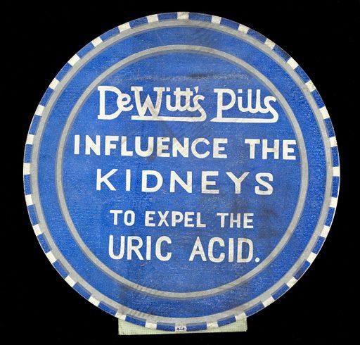 DeWitt's pills influence the kidneys to expel the uric acid. Work ID: qmk75wau.