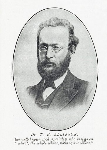 Portrait of Dr T R Allinson. Work ID: vm7mwven.