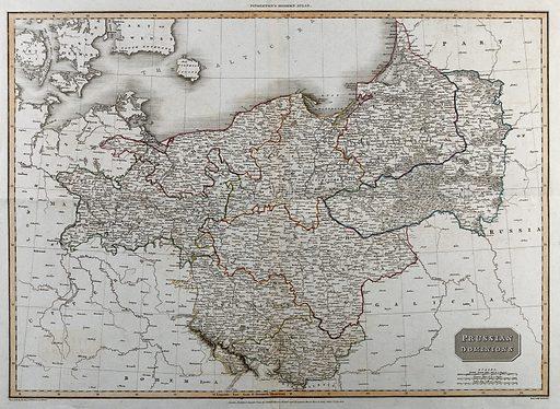 Prussia: map. Coloured engraving by SJ Neele after L Hebert. Created Aug 1st 1810. Prussia (Germany). Contributors: L (Geographer) Hebert; John Pinkerton (1758–1826); Samuel John Neele (1758–1824). Work ID: bfnwwv33.