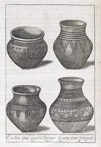 Burial urns from Pseudodoxia epidemica. Pseudodoxia epidemica, or, Enquiries into very many received tenents, and commonly presumed truths / By Thomas Brown Dr of Physick. Work ID: qsukrhhe.