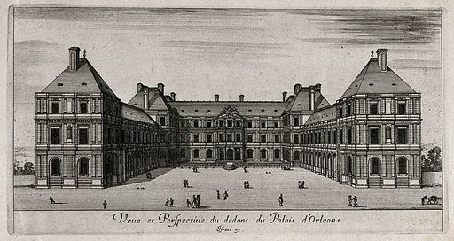 The Palais d'Orleans. Etching. Work ID: nesfh2j7.