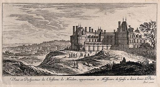 The castle at Meudon near Paris. Etching. Work ID: cq9qj25v.