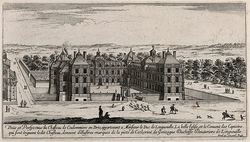 The castle at Coulommiers in Brie near Paris. Etching. Work ID: ngc5ukuu.