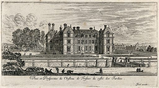 The castle at Fresnes. Etching. Work ID: hn7c4nuu.