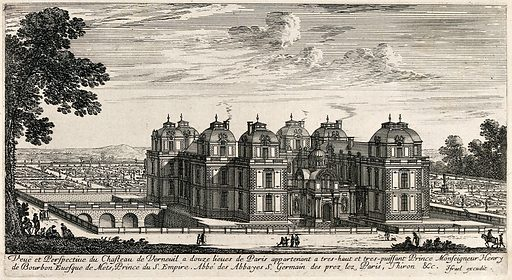 The castle at Verneuil near Paris. Etching. Work ID: e7k7fwj4.
