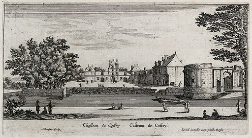 The castle at Coffry. Etching by I Silvestre. Contributors: Israël Silvestre. Work ID: yy5h4u3v.