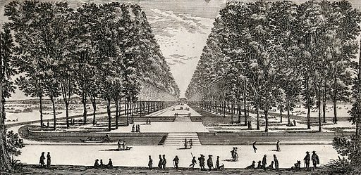 The path to the castle of Coffri. Etching by I Silvestre. Contributors: Israël Silvestre. Work ID: j63zew2m.