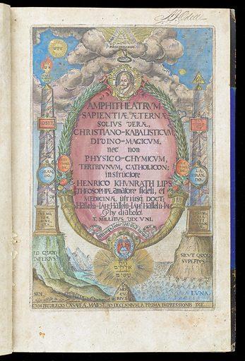 Frontispiece. Amphitheatrum sapientiae aeternae solius verae, Christiano-Kabalisticum, divino-magicum, nec non physico-chymicum, tertriunum, catholicon / [Heinrich Khunrath]. Work ID: h6djmuas.