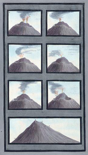 Plans of the top of Mount Vesuvius, July – Oct 1767