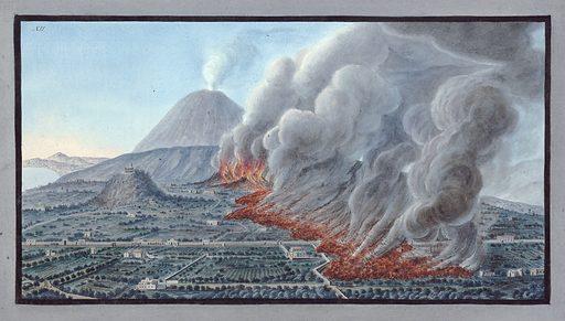 An eruption of Mount Vesuvius, Dec 1760 – Jan 1761